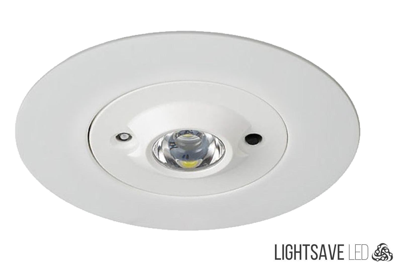 Self test emergency recessed led down light